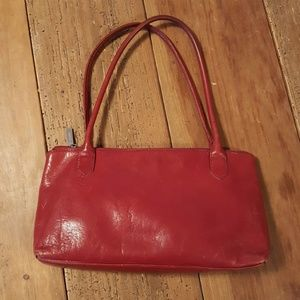 Hobo Red Smooth Leather Purse